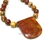 Fall wardrobe accessories. Picasso jasper necklace with large picasso jasper