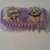 Lilac Pin Cushion with Fabric Flowers and Lilac Ribbon