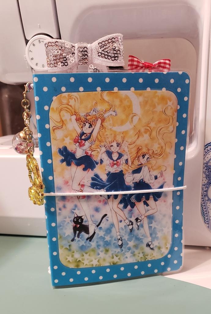 BLUE sailor moon pocket travelers notebook