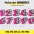 Polka dots Numbers LOL font  INSTANT DOWNLOAD (SVG, eps, dxf, ai, pdf, jpg,