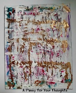 Erosion Mixed Media Canvas Covered Panel. Ready to Ship