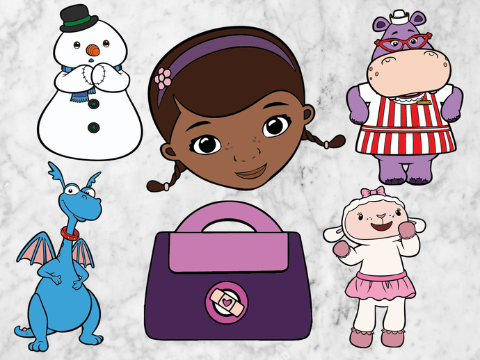 Doc McStuffins SVG files,  Doc McStuffins svg cut files, clipart, eps, dxf files