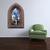 "Gothic Brick Windowscape Dream Castle Wall Decal - 40"" tall x 26"" wide - Custom"