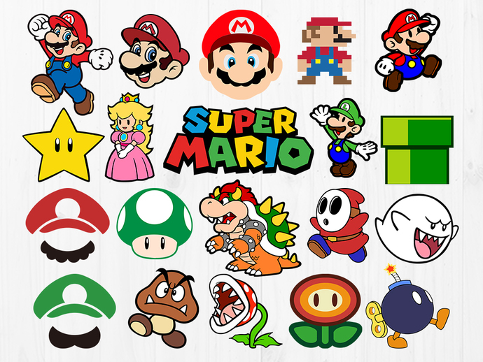Super Mario Bros Svg Files Mario Svg Cut Files By Orangecut On