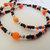 Halloween Pumpkin Lanyard, Jackolantern Badge Holder, Fall Gemstone Jewelry,