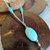 Turquoise and Brown Beaded Gemstone Lanyard, Badge Holder, Gift for Teacher
