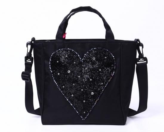 Heart Beaded Shoulder Bag, Hand Embroidery Bag, Swarovski Stone Bag, Designer