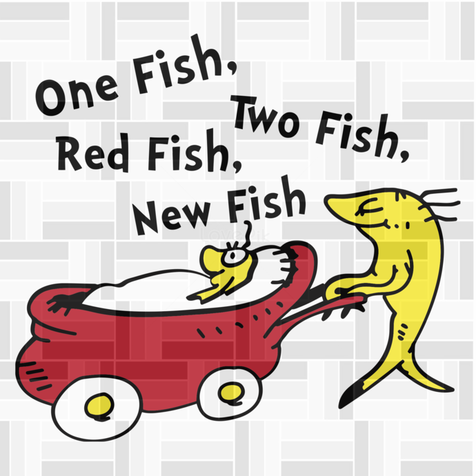 One fish two fish, blue fish red fish, Dr seuss svg, Dr seuss Birthday, Dr seuss