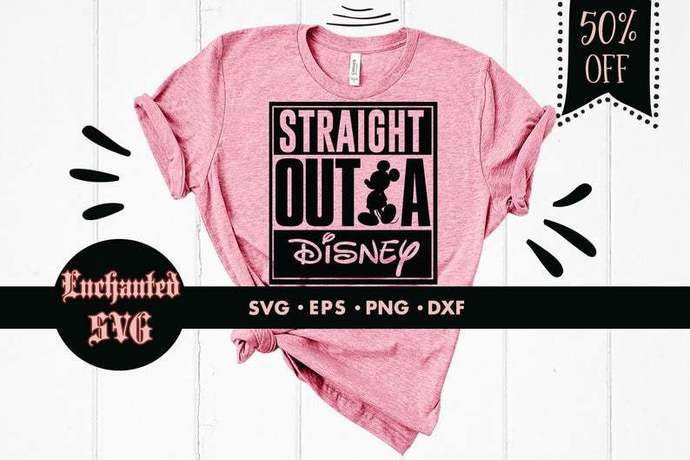 Straight outta Disney svg, Disney svg, Disneyland svg, Disney trip svg, Mickey