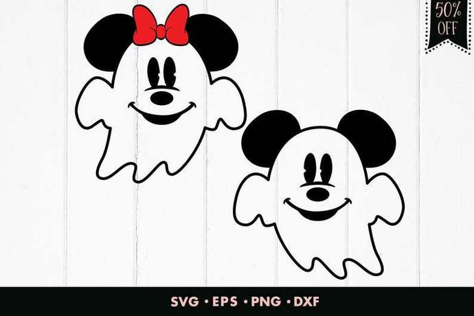 Disney Halloween svg, Mickey mouse svg, Ghost svg, Minnie svg, Mickey ghost svg,