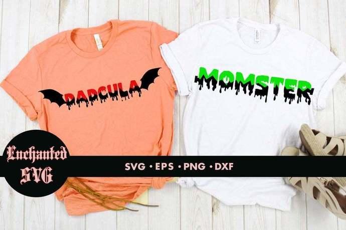 Momster svg, Dadcula svg, Monster svg, Dracula svg, Halloween svg, Disney couple