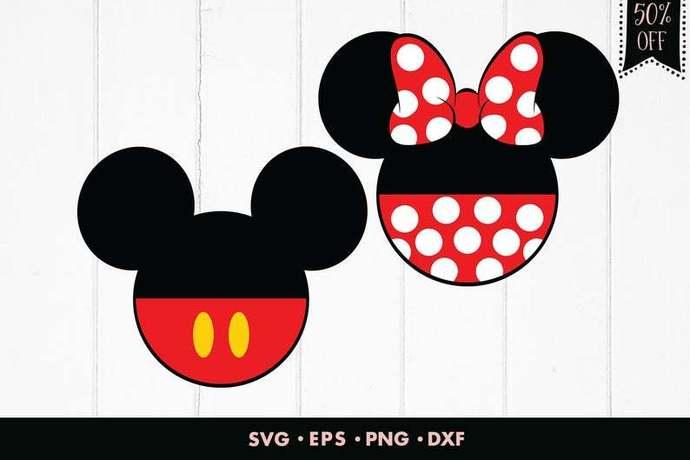 Mickey mouse svg, Mickey svg, Minnie mouse svg, Minnie svg, Bow svg, Couple svg,