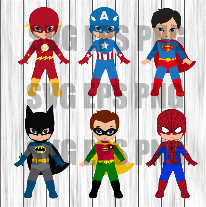 Superhero Svg Bundle, Superhero cut file, Superhero logo clipart, superhero