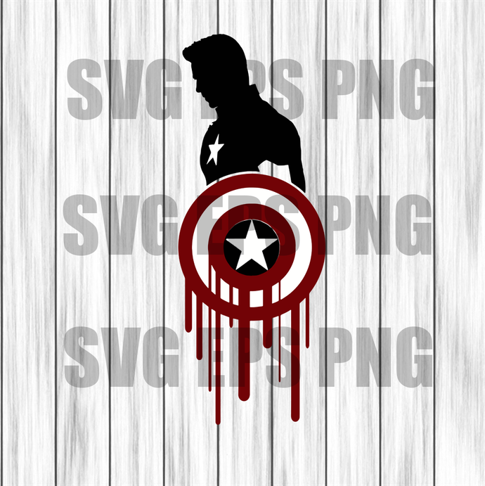 Captain America SVG, Captain America Digital Clip Art, superhero svg, Svg Files,