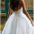 Short Prom Dresses, White Prom Dresses,  Backless Prom Dresses, Short White Prom