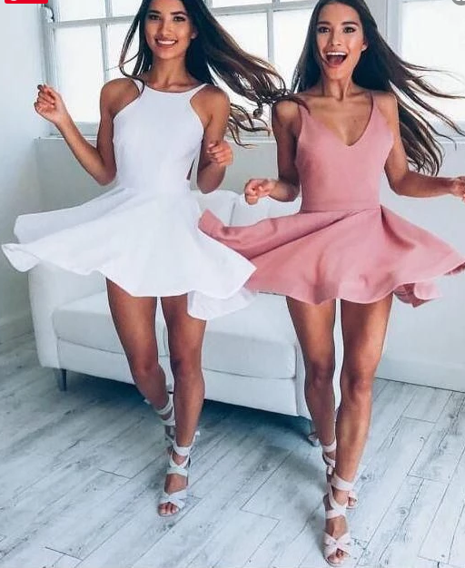 Sexy Backless Pink Cheap 2018 Homecoming Dresses,69
