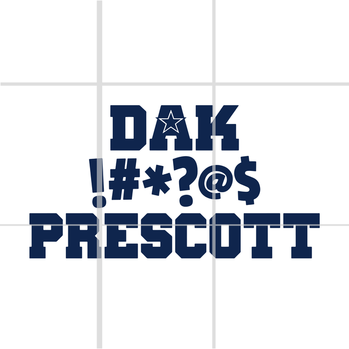 Dak Prescott Censored SVG, dallas cowboy svg, cowboy svg,dallas cowboy shirt,