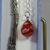 Hand Made Silver Coloured Horse Themed Bookmark With A Red Bauble In A Gift Box