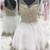 Glorious V-Neck Homecoming Dresses, A-Line Homecoming Dresses, White Homecoming