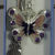 Hand Made Silver Coloured Horse Themed Bookmark With A Purple Butterfly Charm In