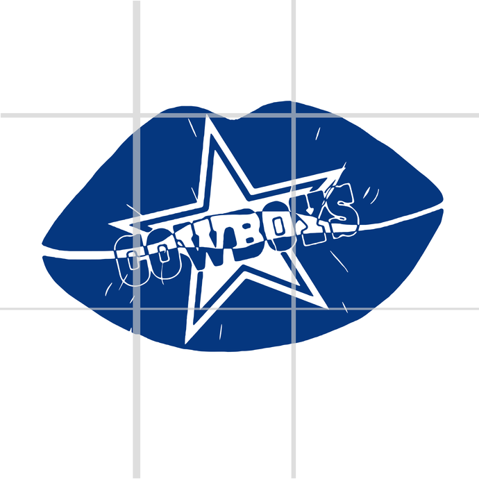 Lips cowboys SVG,lip dallas cowboy, dallas cowboy svg, cowboy svg,dallas cowboy