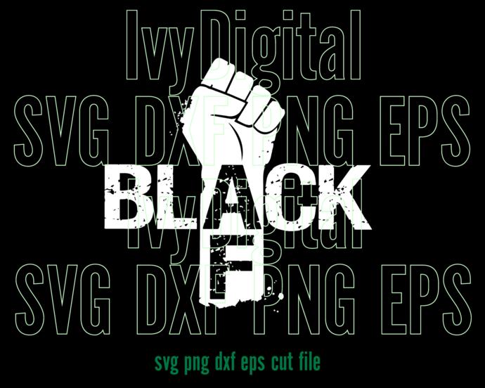 Black Month SVG Black Forever African shirt AF Hand sign girl printable art