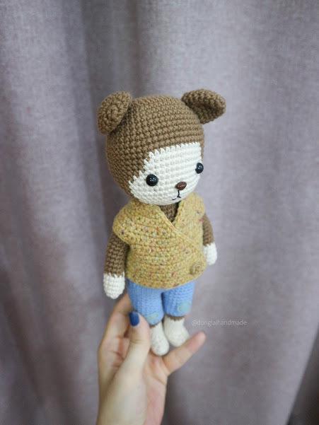 PDF Pattern crochet BaoBao Monkey