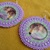 Native American Style Rosette Beaded Lilac and Mint Green Earrings with Wolf