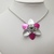 Flower pendant, chainmaille flower necklace, scale flower