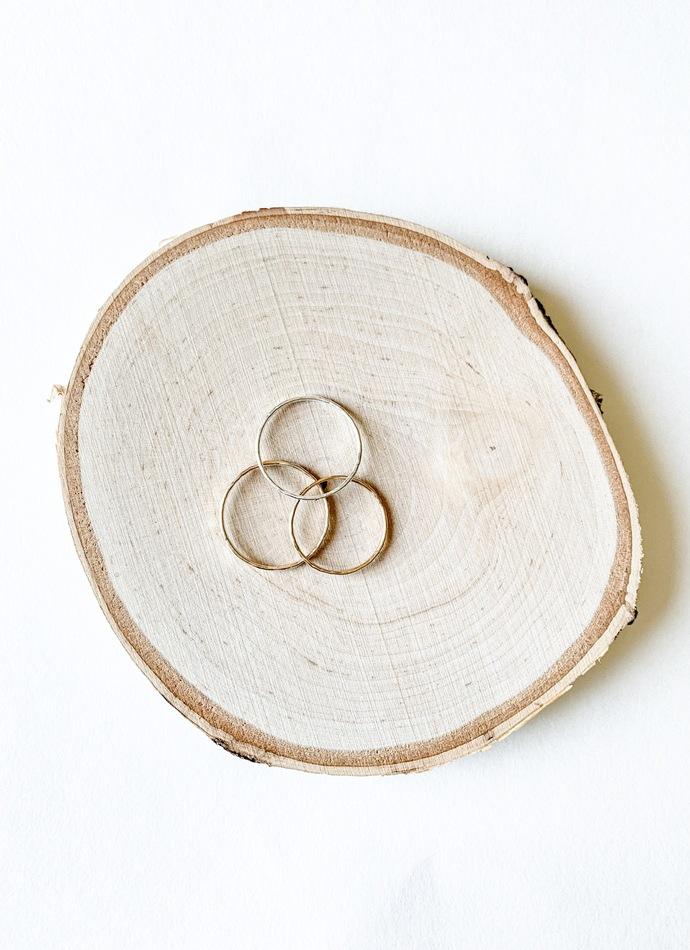 Textured Stacking Ring