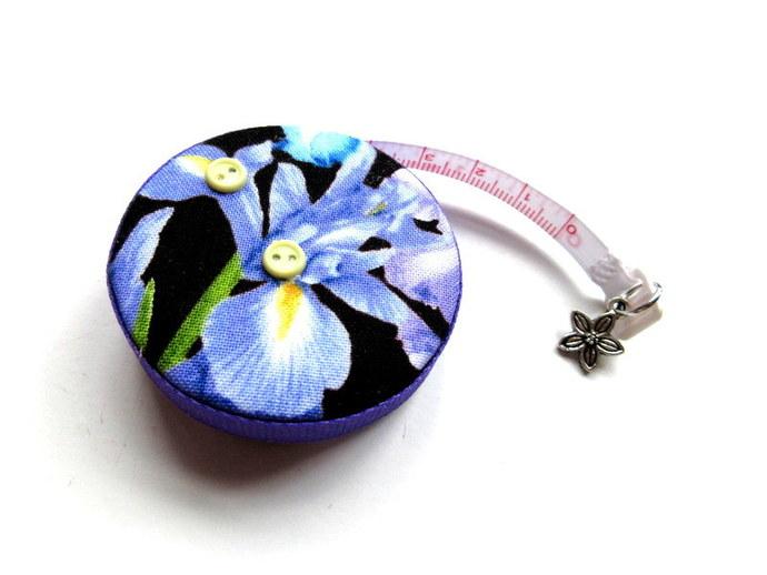 Tape Measure with Iris Flowers Retractable Measuring Tape