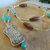 Vintage Southwest Focal Beaded Lanyard, Turquoise Badge Holder, Gift for Teacher