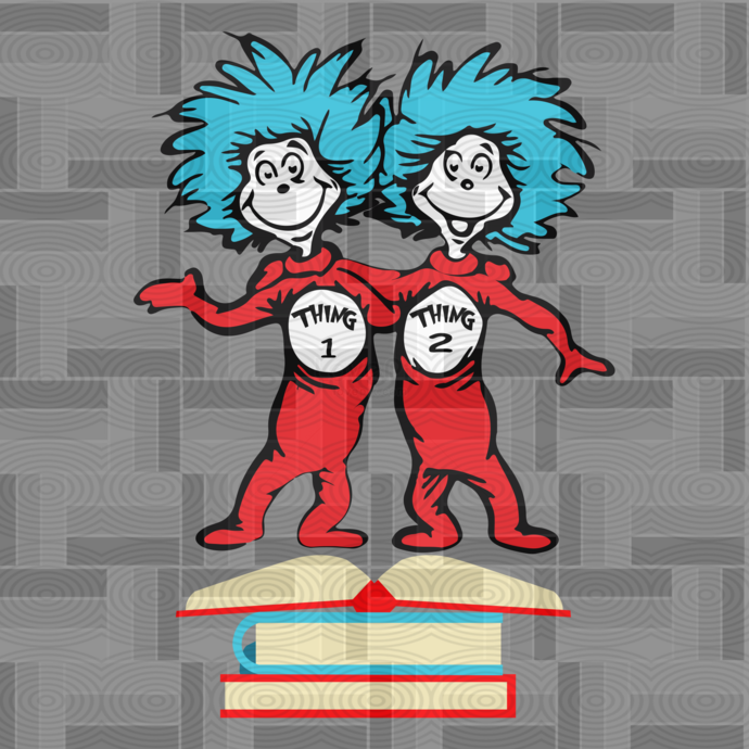 Thing 1 thing 2, Cat in the hat, thing 1 thing 2 baby, Dr seuss svg, Dr seuss