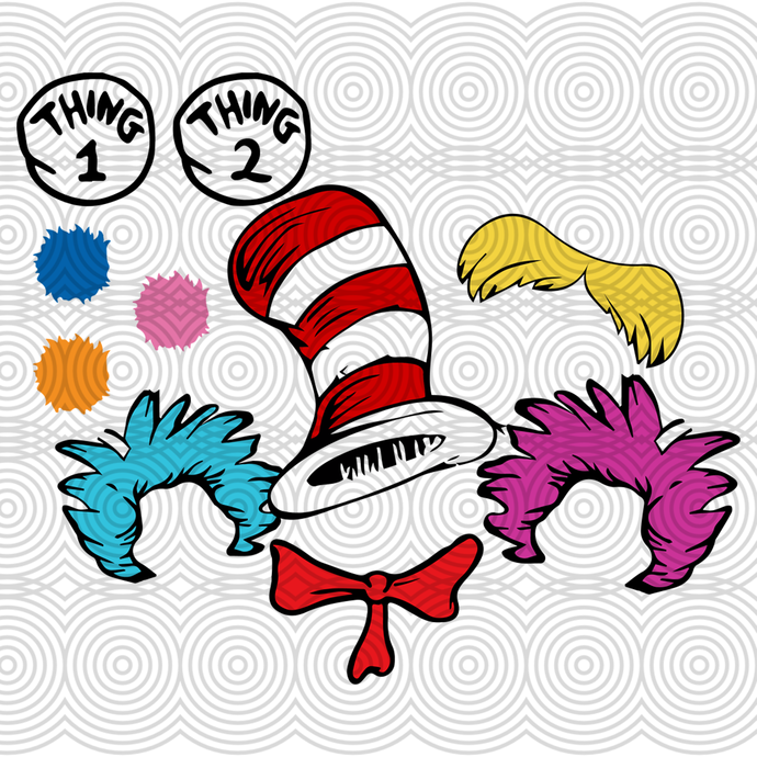 Dr seuss, thing 1 thing 2, lorax, dr seuss gift, dr seuss gift, cat in the hat,