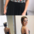 Black Chiffon Embroidery Lace Up Back Homecoming Dresses,109