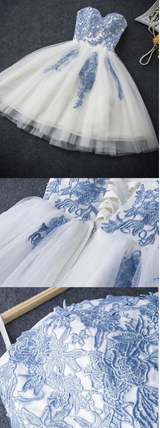 White Prom Dresses 2019, Prom Dresses 2019, Cheap Prom Dresses, Short Prom