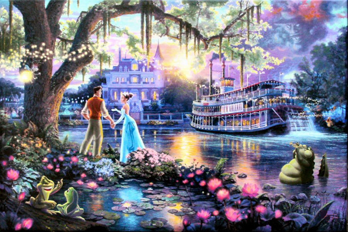 Kinkade The Princess & The Frog Cross Stitch Pattern***LOOK***X***INSTANT