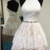 White Lace Halter Backless Tiered Short Prom Dress Homecoming Dresses Party