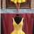Simple A-Line V-Neck Sleeveless Short Yellow Cheap Homecoming Dresses,139