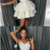 Simple Charming A-Line Spaghetti Straps White Appliques Short Homecoming