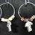 Hand Made Football Themed Wine Glass Charms In A Gift Box - FREE SHIPPING