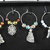Hand Made Silver Coloured Christmas Themed Wine Glass Charms In A Gift Box -