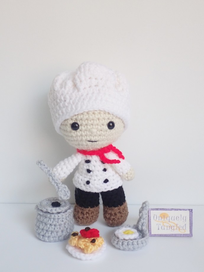 Chef Felton- Crochet Amigurumi Pattern PDF