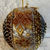 Hand Made Gold And Silver Sequined And Golden Ribbon Christmas Tree Decoration -
