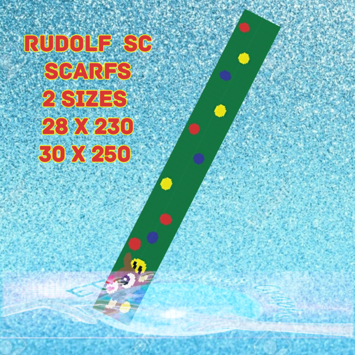 Rudolph Scarf 2for1 - 30x250 & 28x230 includes Graphs & written color charts