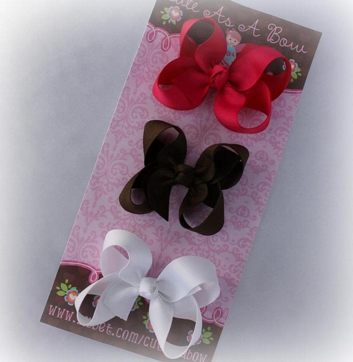 MEDIUM Boutique bows SET OF 3