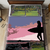 Surfer Girl Silhouette at Sunset, 300 wide x 299 high