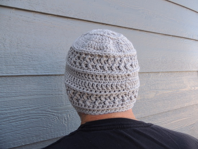 Crochet Men's Hat Winter Beanie - Choose Your Colors - Stocking Stuffer Gift