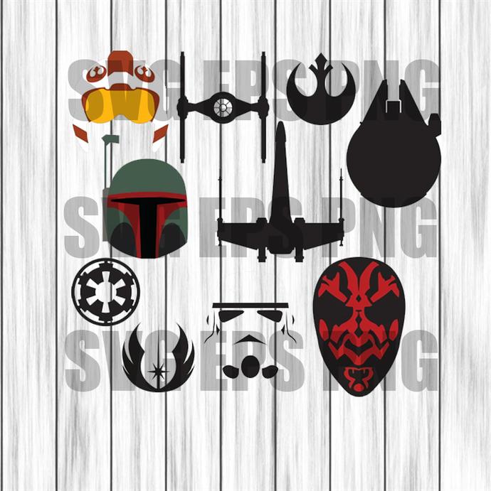 Star wars bundle svg, stars war svg files, star wars clipart,star wars