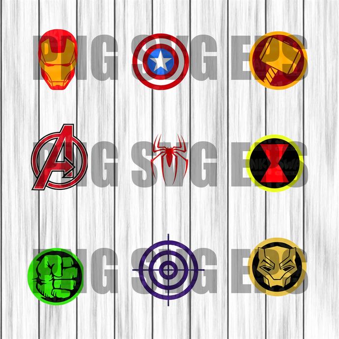 Bundle Avengers Svg File, Avengers SVG, Bundle Avengers Svg, Superhero logo SVG